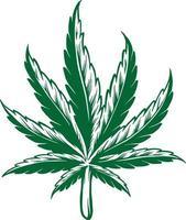 Kush Leaf Simple Cannabis Design vector