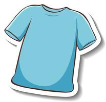 A sticker template with a blue t-shirt isolated vector