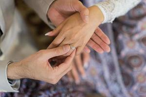 Wear a ring, wedding ring, love couple photo