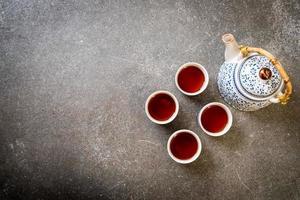 Close-up beautiful Chinese tea set photo