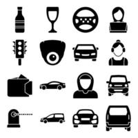 Pack of Hotel and Holidays Solid  Icons vector