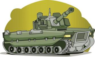tank monster hand drawing illustration vector