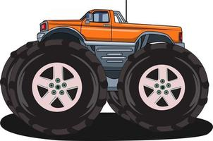 the large monster truck vector