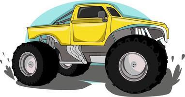 big truck vehicle illustration vector