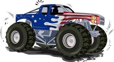 monster truck off-road vehicle vector