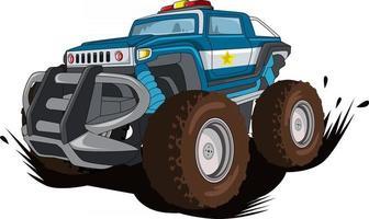 the police monster car illustration vector