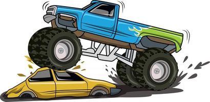 camión monstruo, un, coche, ilustración, vector
