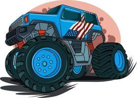 american classic car illustration vector