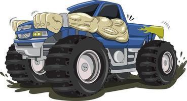 the big monster truck car illustration vector