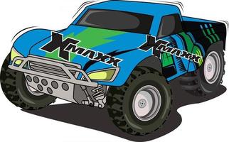 race monster truck hand drawing vector
