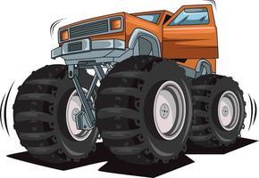 monster truck open the door vector