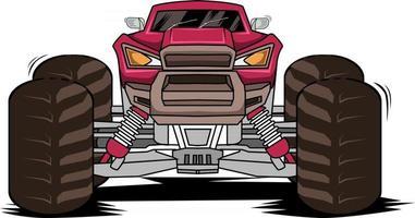 drift monster truck vector