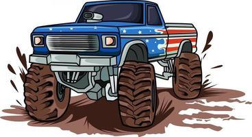 the big monster truck car vector