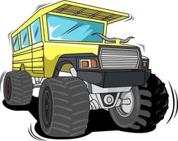 classical monster truck vector