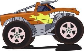 bull monster truck vector