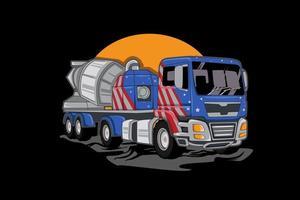 american big truck illustration vector