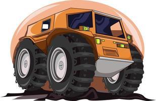 the big monster truck illustration vector