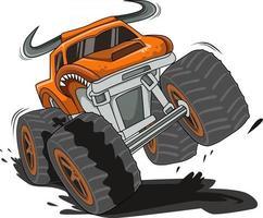 the big monster truck vector
