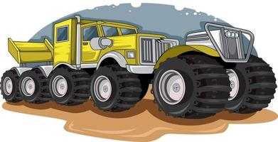 the long and big truck vector