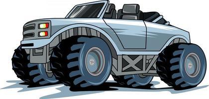 monster truck illustration vector