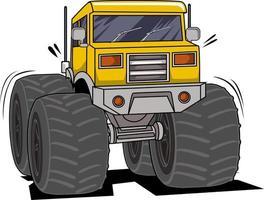 classic monster truck vector