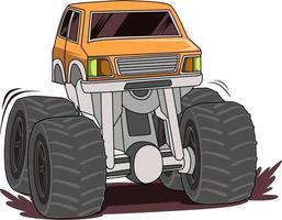 off road monster truck vector