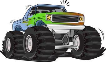 off-road monster truck illustration vector