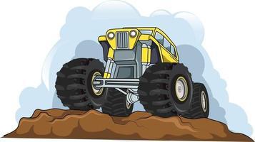 off-road monster truck vector