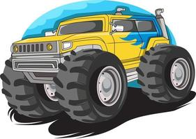 monster big truck vector