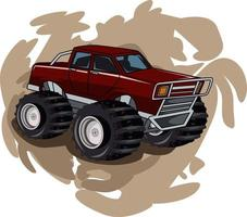 monster truck with abstract background vector