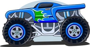 monster truck custom vector