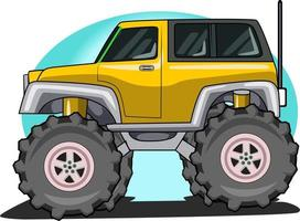 off-road big truck vector