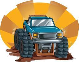 off road big truck vector