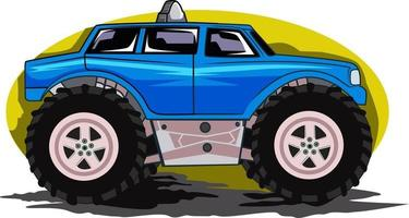 off road car illustration vector