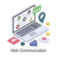 Web Communication Network vector