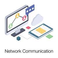 Online Network Communication vector