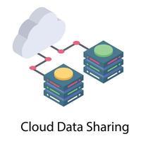 Cloud Data Sharing vector