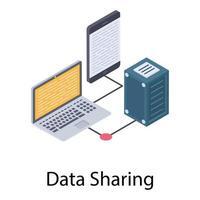 Data Sharing Concepts vector
