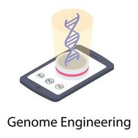 Genome Structure Concepts vector