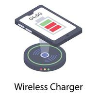 Wireless Charger Technology vector