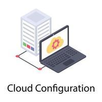 conceptos de configuración de la nube vector