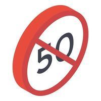 prohibición de cincuenta velocidades vector