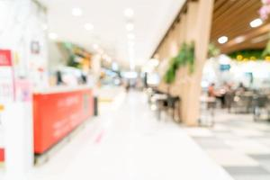 Abstract blur shopping mall for background photo