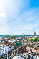 Un alto ángulo de vista de la calle principal de la ciudad de Oxford, Reino Unido foto