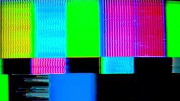 Vintage and Distorted Television Test video