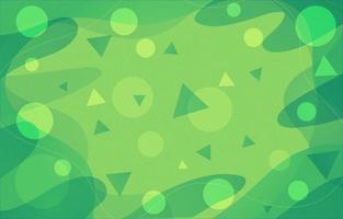 Fresh Green Flow Background vector