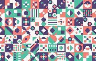 fondo geométrico colorido abstracto vector