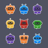 Colorful Chatbot Service vector