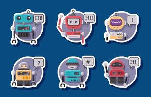 Chatbot Service Sticker vector