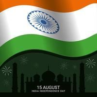 India Independence Day Background Template vector